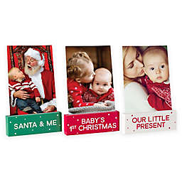 Pearhead Baby Wooden Holiday Photo Stands (Set of 3)