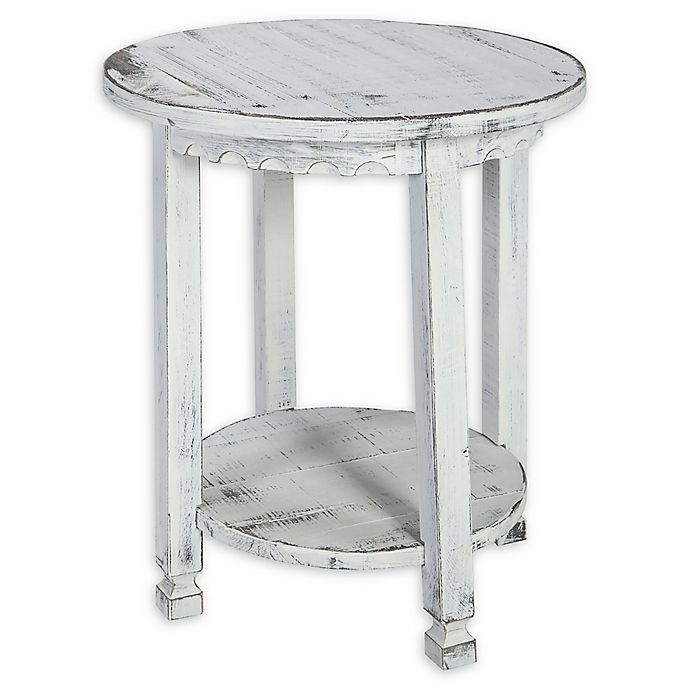 Alternate image 1 for Alaterre Country Cottage Round End Table in Antique White