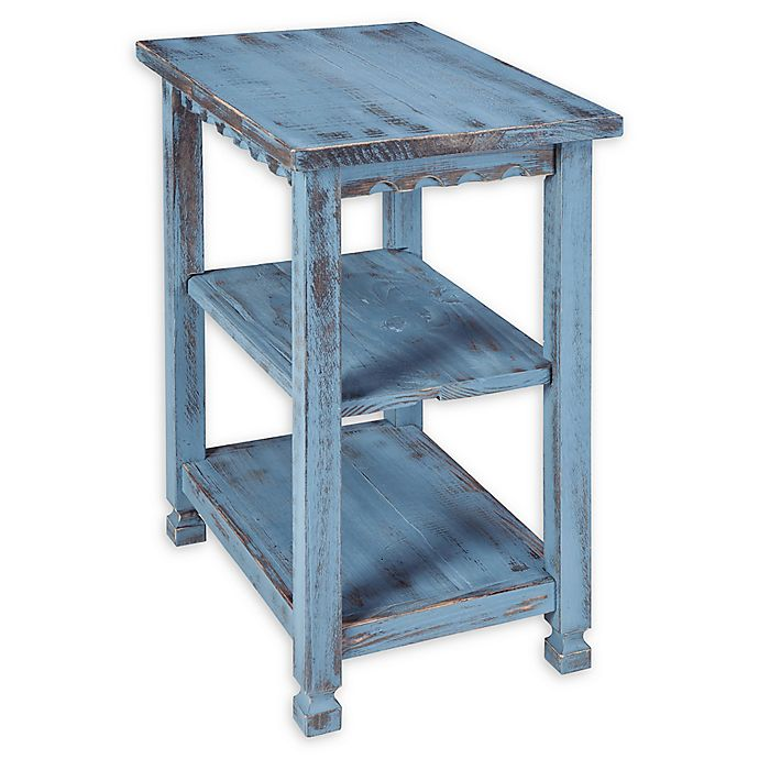 Alternate image 1 for Alaterre Country Cottage 2-Shelf End Table in Antique Blue