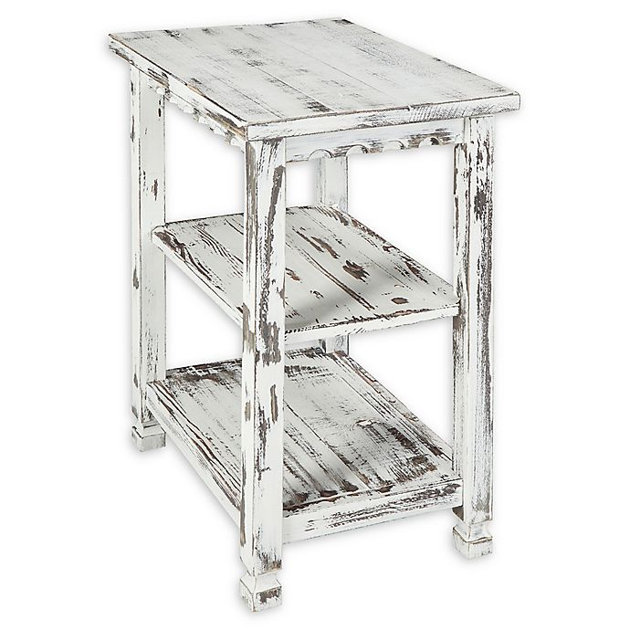 Alternate image 1 for Alaterre Country Cottage 2-Shelf End Table in Antique White