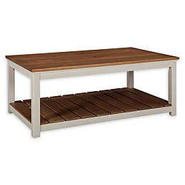 Alaterre Savannah Coffee Table in Ivory/Natural