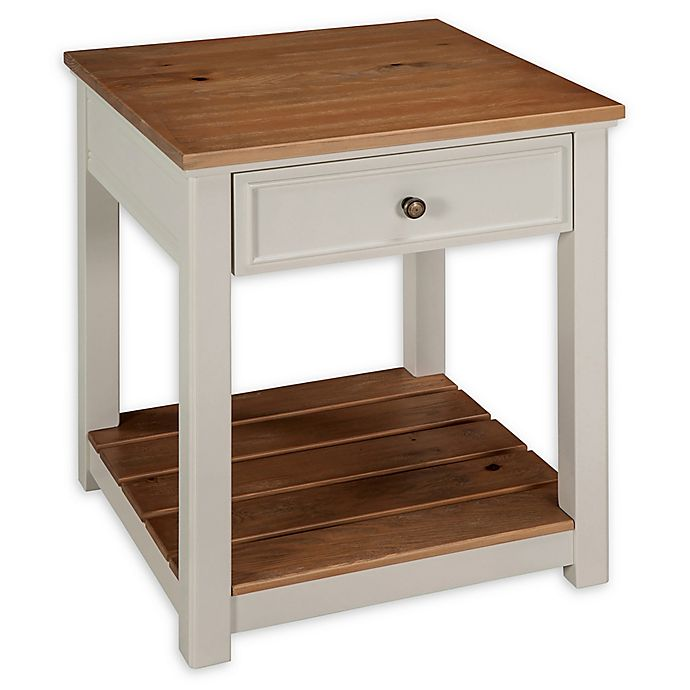 Alternate image 1 for Alaterre Savannah End Table in Ivory/Natural