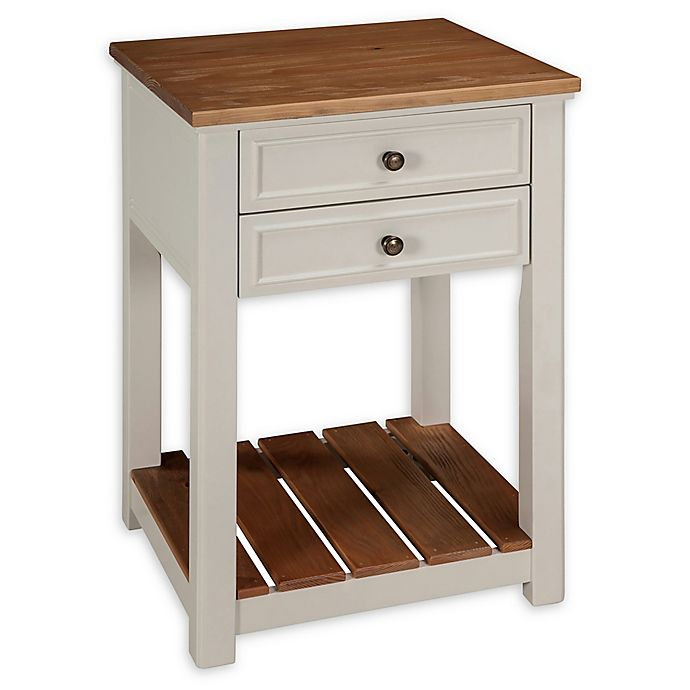 Alternate image 1 for Alaterre Savannah 2-Drawer End Table in Ivory/Natural