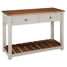 Alaterre Savannah 2-Drawer Console Table in Ivory/Natural