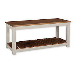 Alaterre Savannah Bench in Ivory/Natural