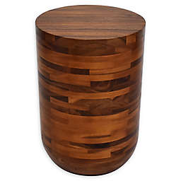 222 Fifth Wood Drum Accent Table