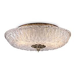 ELK Lighting 2-Light Flush Mount in Silver Leaf