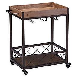 Modern Farmhouse Bar Cart in Oak