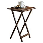 Bevel 5-Piece Snack Tables in Walnut
