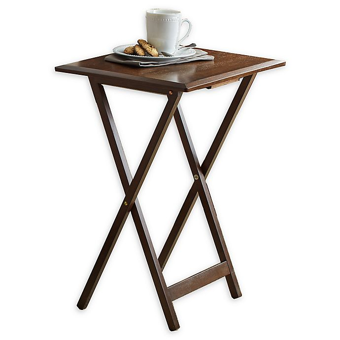 Alternate image 1 for Bevel 5-Piece Snack Tables in Walnut