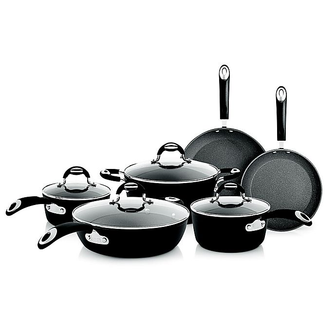Alternate image 1 for Bialetti® Impact Nonstick Aluminum 10-Piece Cookware Set in Grey
