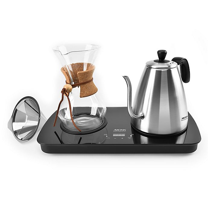Alternate image 1 for Aroma® 4-Cup Digital Pour Over Coffee Maker