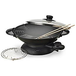 Aroma® 5 qt. Electric Wok in Black