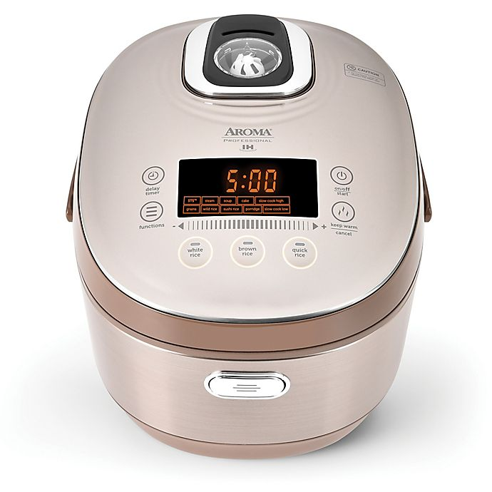 Alternate image 1 for Aroma® Professional™ 20-Cup Digital Induction Heating Rice Cooker in Champagne