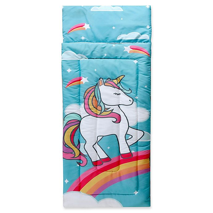 buy unicorn sleeping bag in blue from bed bath beyond. Black Bedroom Furniture Sets. Home Design Ideas