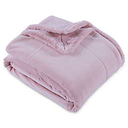 Berkshire Blanket® Artisan Faux Fur Throw Blanket  in Blush