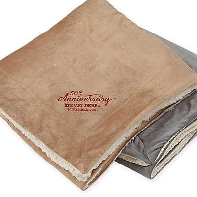 Everlasting Love Embroidered Sherpa Blanket