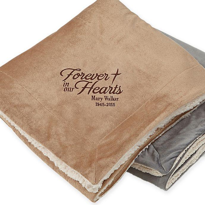 Alternate image 1 for Heartfelt Memories Embroidered Memorial Blanket