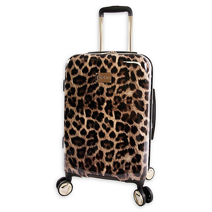 Alternate image 1 for Bebe Adriana 21-Inch Hardside Spinner Carry On in Leopard
