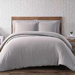 Brooklyn Loom Linen 3-Piece King Duvet Set in Grey