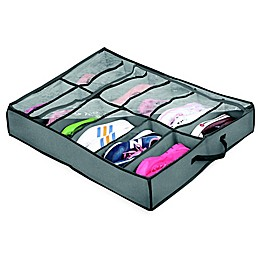 Arm & Hammer™ 12-Compartment Shoe Organizer in Grey