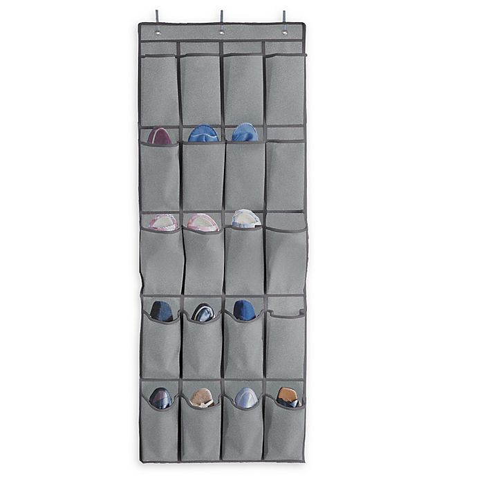 Alternate image 1 for Arm & Hammer™ 20-Pocket Closet Organizer in Grey