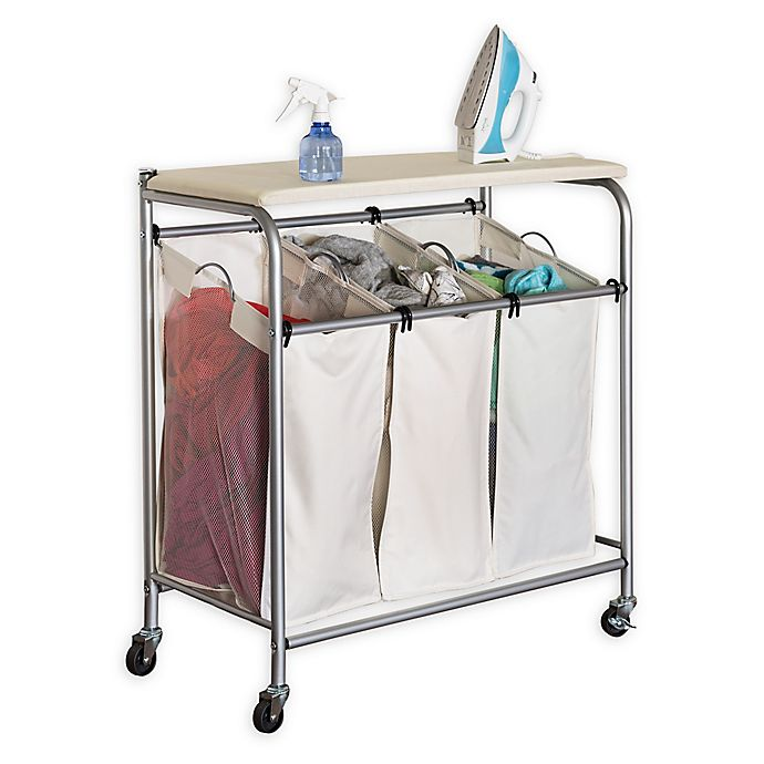 Alternate image 1 for Honey-Can-Do® Ironing and Triple Sorter Laundry Center