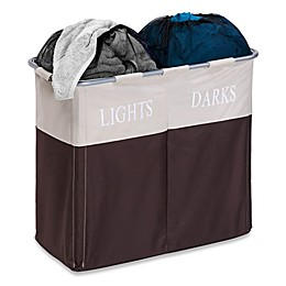 Honey-Can-Do® Dual Compartment Laundry Hamper in Brown/Taupe