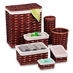 Honey-Can-Do® 7-Piece Wicker Hamper and Bath Set
