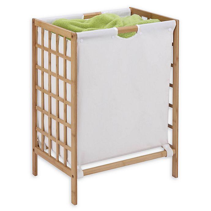 Alternate image 1 for Honey-Can-Do® Grid Frame Bamboo Hamper
