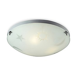 ELK Lightng 3-Light Night Sky Flush Mount in Satin Nickel