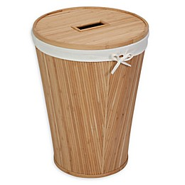 Honey-Can-Do® Round Bamboo Hamper