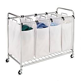 Honey-Can-Do® Heavy-Duty Quad Laundry Sorter in White/Chrome