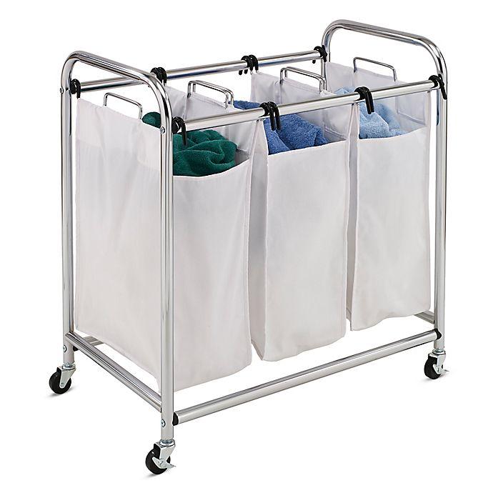Alternate image 1 for Honey-Can-Do® Heavy Duty 3-Section Laundry Sorter