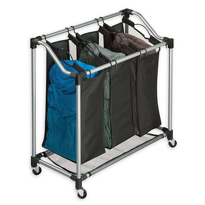 Alternate image 1 for Honey-Can-Do® Elite Triple Laundry Sorter