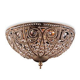 ELK Lighting Elizabethan 3-Light Flush Mount in Dark Bronze