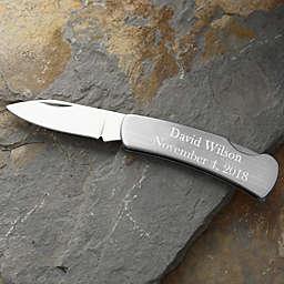 Silver Lock-Back Pocket Knife