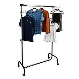 Mind Reader Heavy Duty Single Rolling Garment Rack