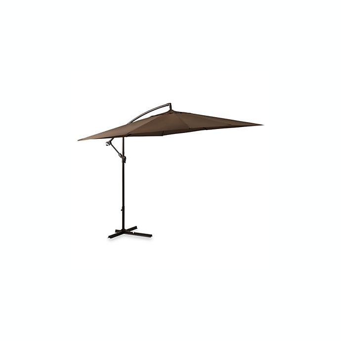 8 Foot Square Cantilever Umbrella In Chocolate Bed Bath Beyond