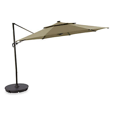 11-Foot Round Solar Cantilever Umbrella