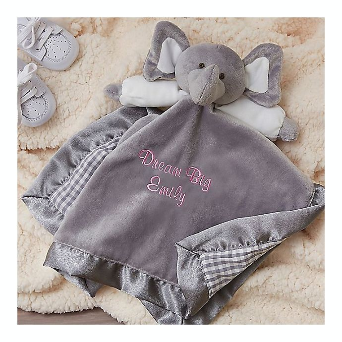 Alternate image 1 for Elephant Baby Blankie in Grey