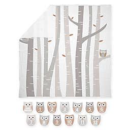 Pearhead® Watch Me Grow Muslin Photo Blanket in White/Grey
