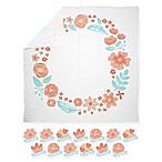 Pearhead® Watch Me Grow Floral Muslin Photo Blanket