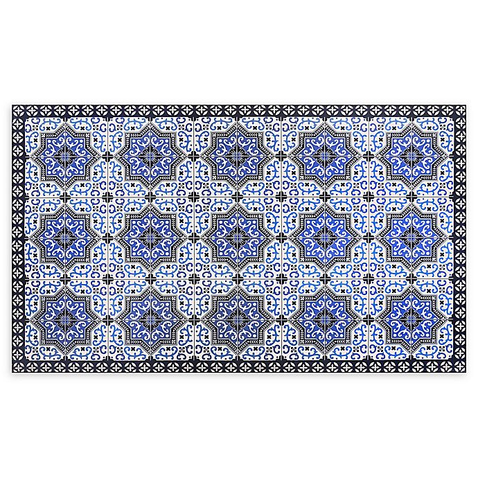 Alternate image 1 for Home Dynamix Calm Step 2' x 3' Anti-Fatigue Kitchen Mat in Blue