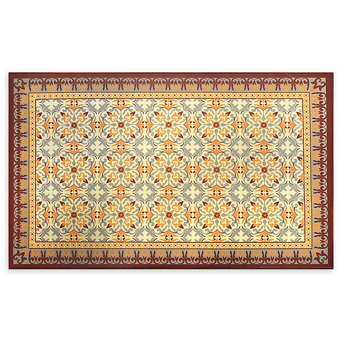 Alternate image 1 for Home Dynamix Calm Step 2' x 3' Anti-Fatigue Kitchen Mat in Red