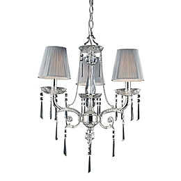 ELK Lighting Princess 3-Light Chandelier in Polished Chrome and Iced Glass