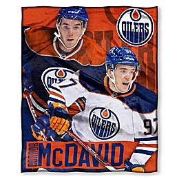 NHL Edmonton Oilers Connor McDavid Silk Touch Player Throw Blanket