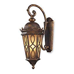 ELK Lighting Burlington Junction 3-Light Wall Bracket in Hazlenut Bronze and Amber Scavo Glass