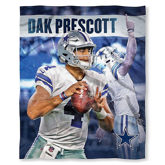 a15ceb74 NFL Dallas Cowboys Dak Prescott Silk Touch Throw Blanket   Bed Bath ...