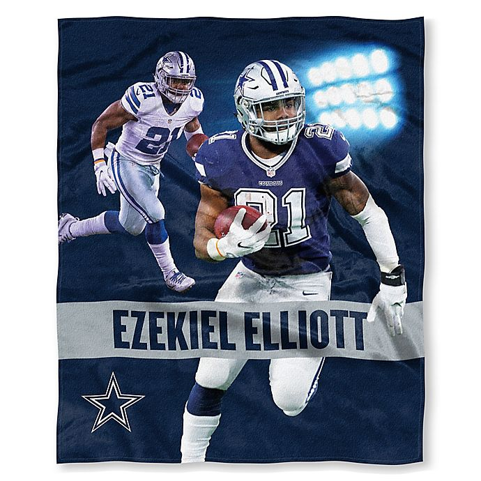 4cf23064 NFL Dallas Cowboys Ezekiel Elliott Silk Touch Throw Blanket   Bed ...